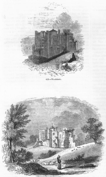 Associate Product OXON. Woodstock; before 1714 1845 old antique vintage print picture