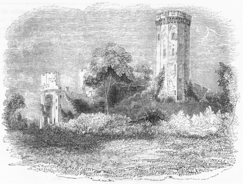 Associate Product WARCS. Warwick Castle Guy's Tower 1845 old antique vintage print picture