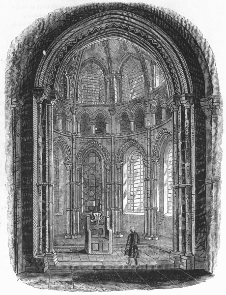 KENT. Chapel in Canterbury Cathedral 1845 old antique vintage print picture