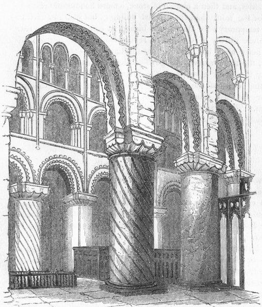 Associate Product ESSEX. Waltham Abbey 1845 old antique vintage print picture