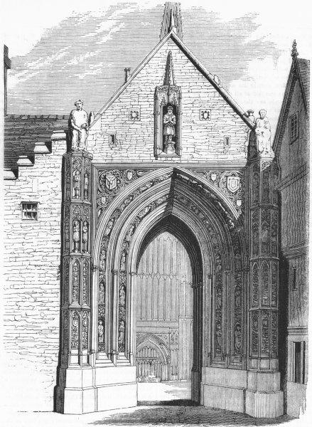 Associate Product NORFOLK. Erpingham Gateway, Norwich 1845 old antique vintage print picture