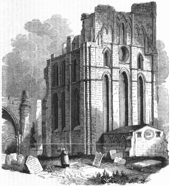 Associate Product NORTHUMBS. Tynemouth 1845 old antique vintage print picture