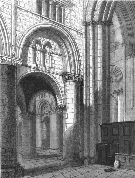Associate Product OXON. Oxford Cathedral 1845 old antique vintage print picture