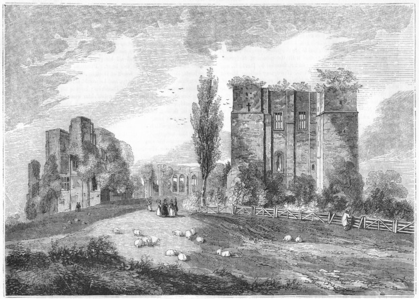 Associate Product WARCS. Kenilworth Castle gate House 1845 old antique vintage print picture