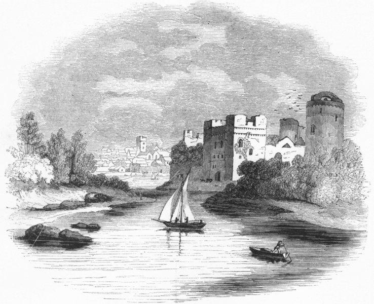 Associate Product WALES. Pembroke Castle 1845 old antique vintage print picture