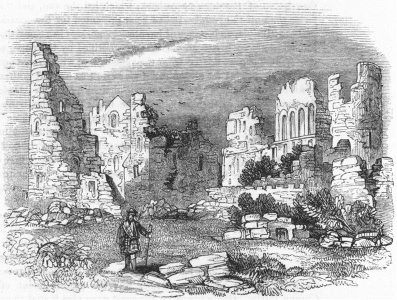 Associate Product SCOTLAND. Ruins of Kildrummie Castle 1845 old antique vintage print picture