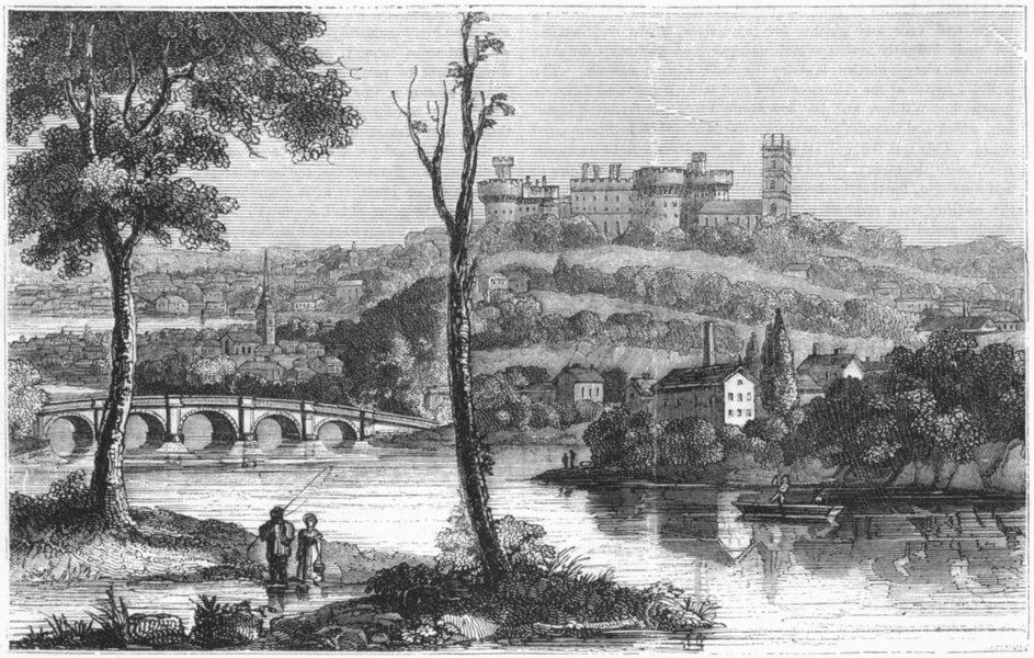 Associate Product LANCS. Lancaster 1845 old antique vintage print picture