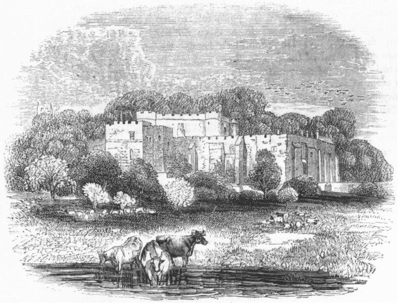 Associate Product GLOS. Berkeley Castle 1845 old antique vintage print picture
