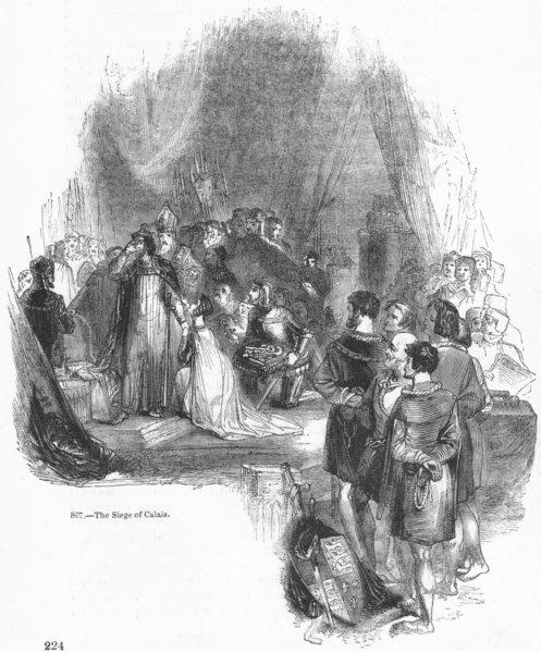 Associate Product FRANCE. The Siege of Calais 1845 old antique vintage print picture