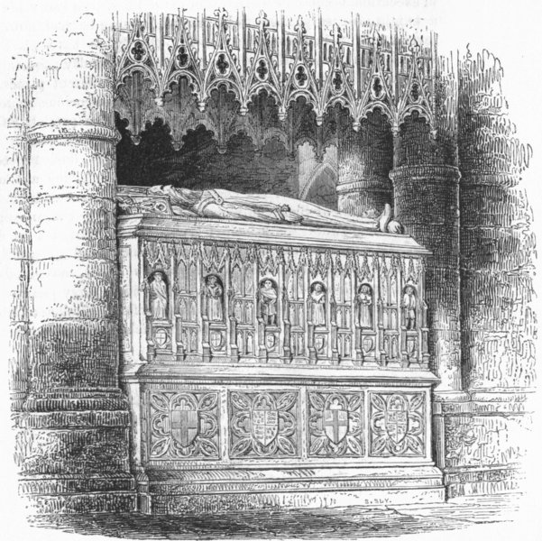 Associate Product MONUMENTS. Tomb of Edward III 1845 old antique vintage print picture