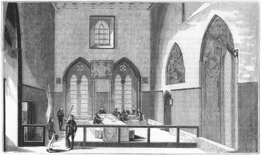 Associate Product CHURCHES. The Painted Chamber 1845 old antique vintage print picture