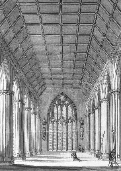 LONDON. St Stephen's Chapel 1845 old antique vintage print picture