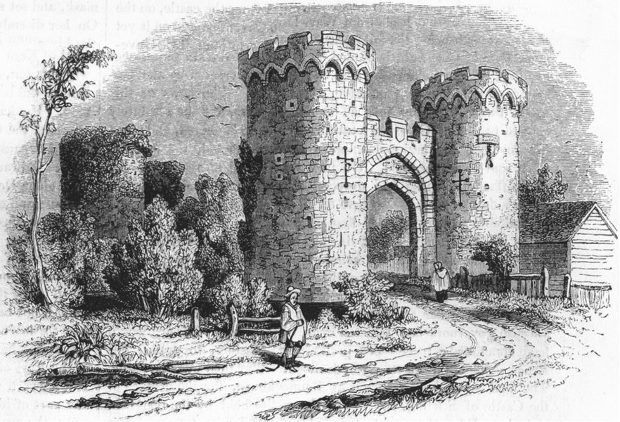 Associate Product KENT. Gateway to Cooling Castle 1845 old antique vintage print picture
