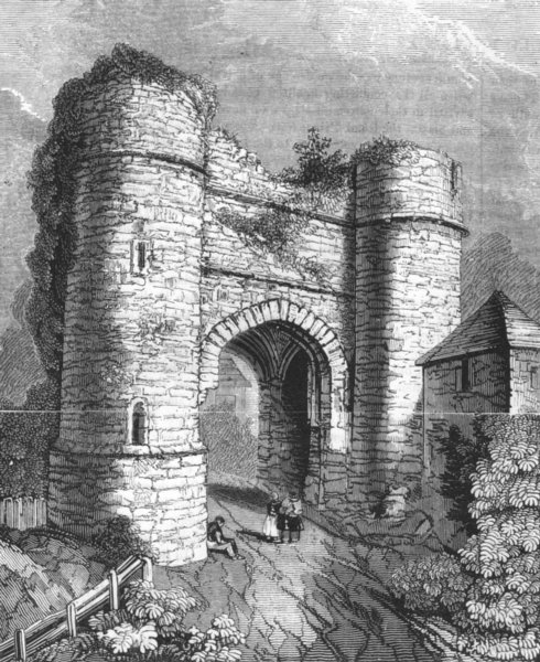 SUSSEX. Strand gate, Winchelsea 1845 old antique vintage print picture