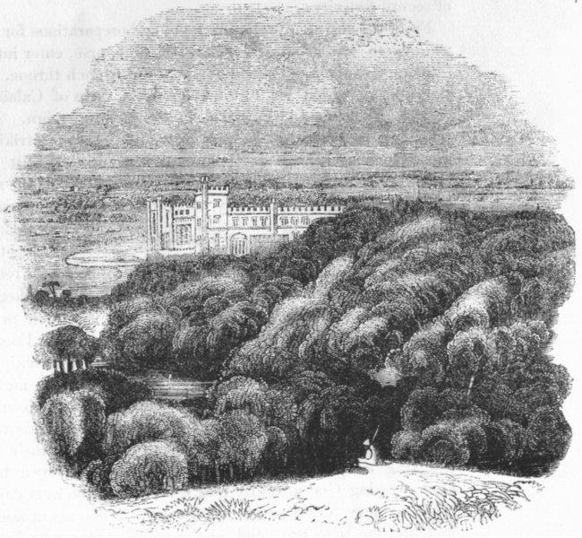 Associate Product SUSSEX. Arundel Castle 1845 old antique vintage print picture