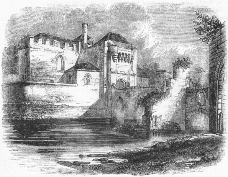 Associate Product KENT. Leeds Castle 1845 old antique vintage print picture
