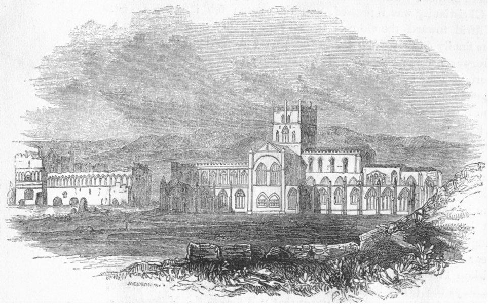 WALES. St David's 1845 old antique vintage print picture