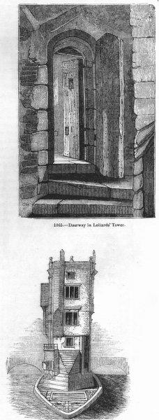 Associate Product LONDON. Lollards Tower; St Thomas chapel 1845 old antique print picture