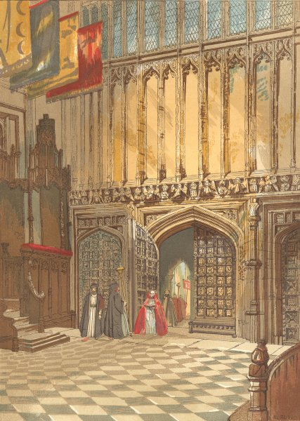 Associate Product LONDON. Westminster Abbey-Henry seventh's Chapel 1845 old antique print