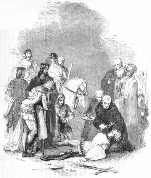 Associate Product SOCIETY. Death of The Squire 1845 old antique vintage print picture