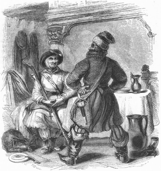 FARMING. The Ploughman and shipman 1845 old antique vintage print picture