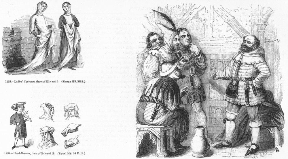 Associate Product PORTRAITS. Carpenter, Haberdasher, Weaver, Dyer 1845 old antique print picture
