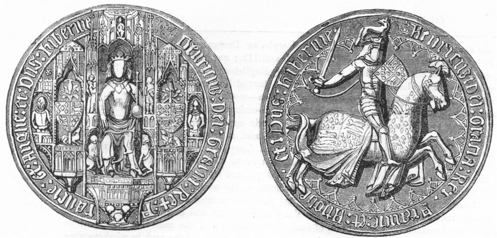 Associate Product DECORATIVE. Great Seal of Henry IV 1845 old antique vintage print picture