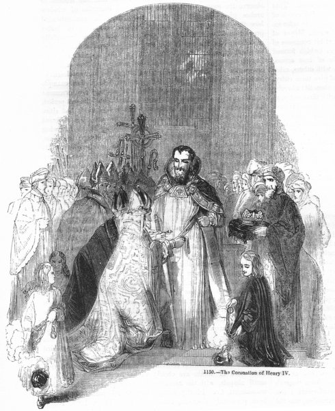 Associate Product ROYALTY. The Coronation of Henry IV 1845 old antique vintage print picture