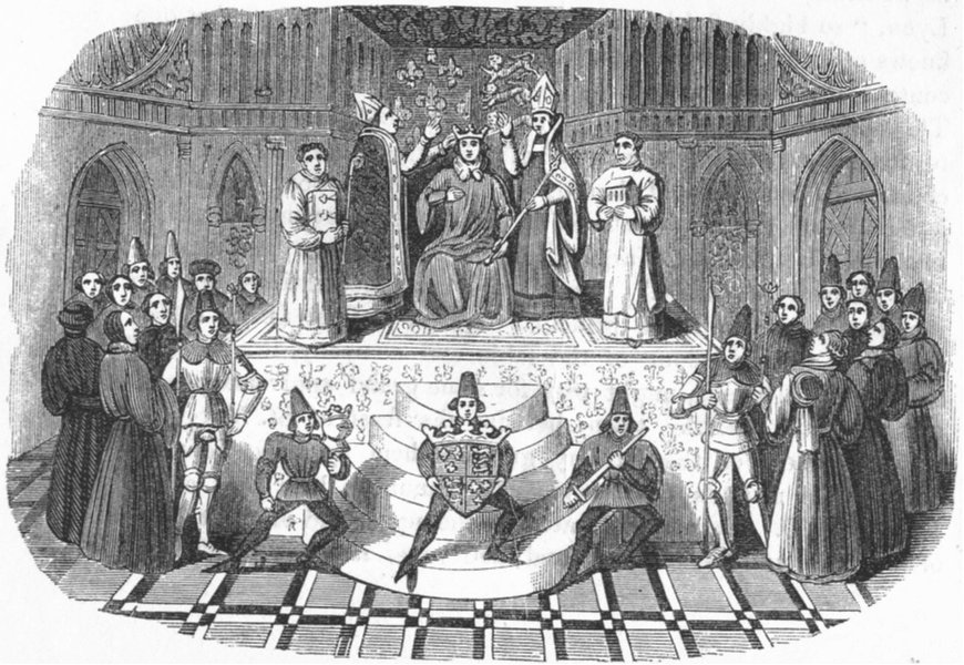 Associate Product ROYALTY. Coronation of Henry IV(No) 1845 old antique vintage print picture