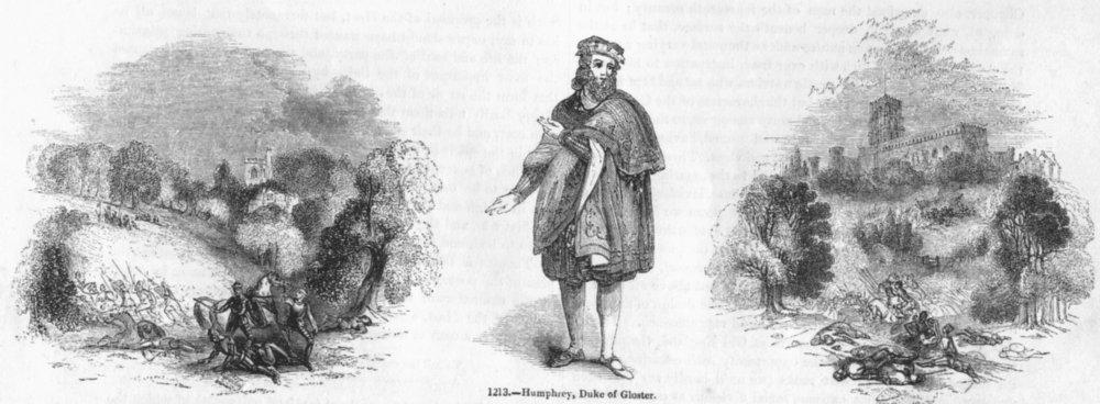 Associate Product LONDON. Barnet; Humphrey, Duke Gloucester; St Alban's 1845 old antique print