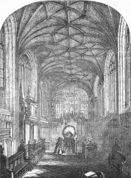 Associate Product WARCS. Beauchamp Chapel, Warwick 1845 old antique vintage print picture