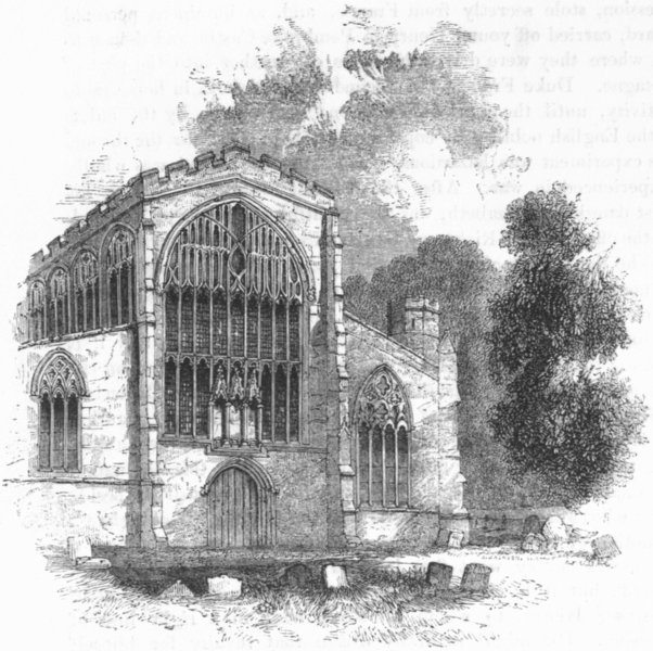Associate Product WARCS. Stratford Church. West End 1845 old antique vintage print picture