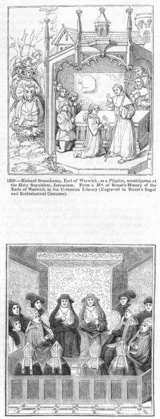 Associate Product RICHARD BEAUCHAMP, WARWICK. Jerusalem; Convocation 1845 old antique print