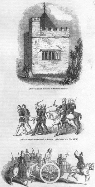 Associate Product ROGUES. Stanton Harcourt; Criminals to jail, Death 1845 old antique print