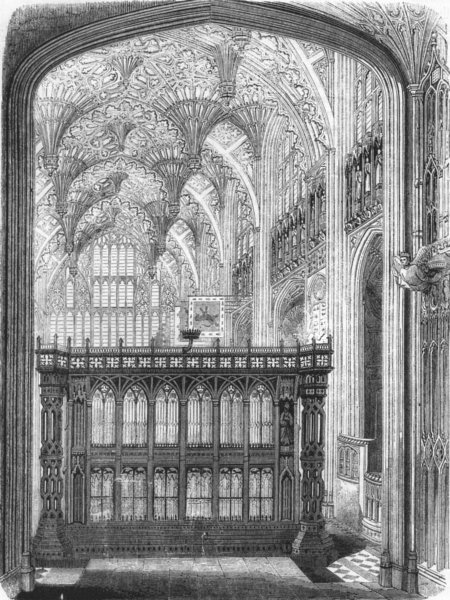 Associate Product WESTMINSTER. Screen of tomb Henry VII 1845 old antique vintage print picture