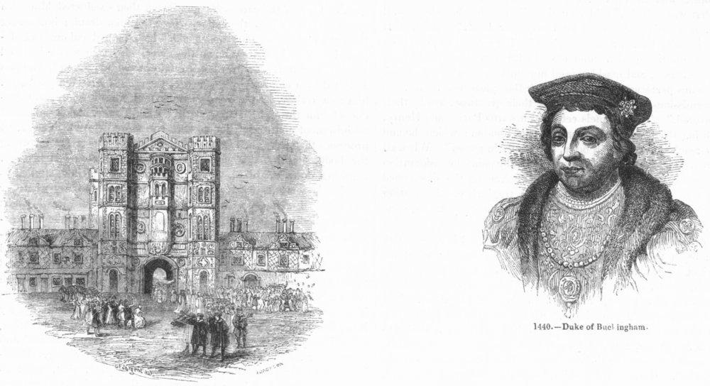 Associate Product ORANGE HERRING. York Place; Duke Buckingham 1845 old antique print picture