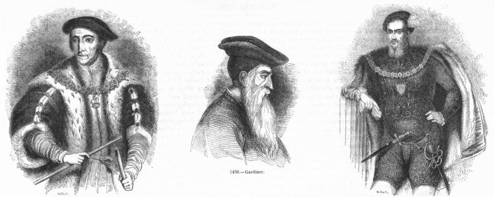 Associate Product PEERS. Thomas Howard(Norfolk); Gardiner; Henry-Surrey 1845 old antique print