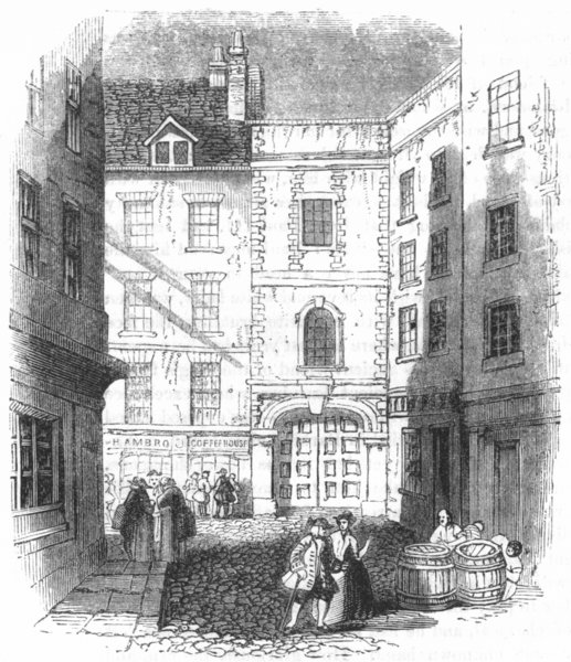 Associate Product BUILDINGS. Trinity House(Pennant) 1845 old antique vintage print picture