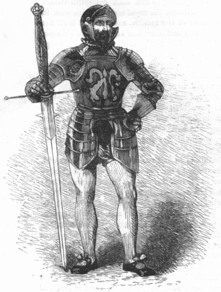 Associate Product MILITARIA. Foot Soldier, 1540 1845 antique vintage print picture