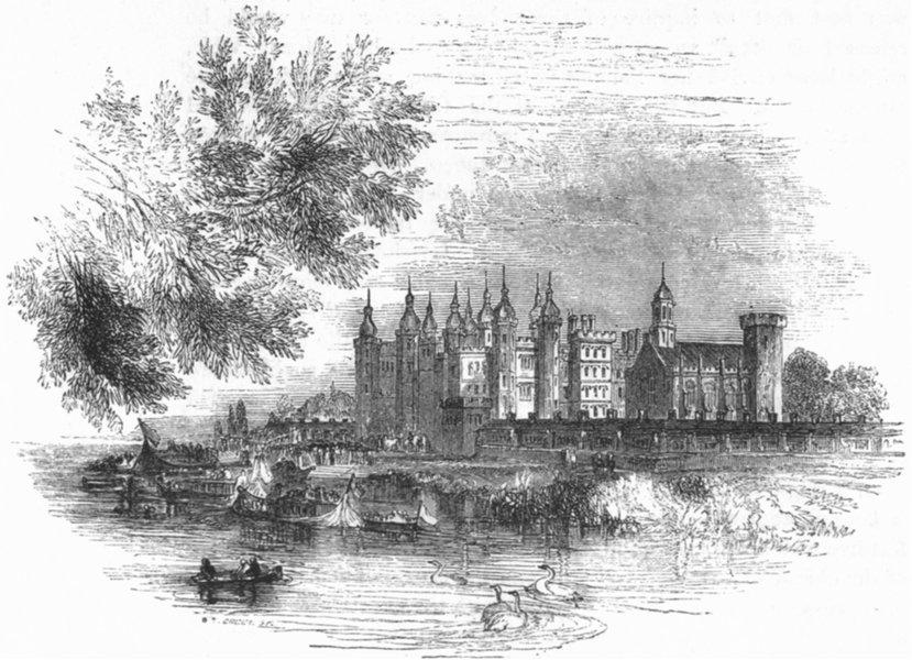 Associate Product LONDON. Richmond 1845 old antique vintage print picture