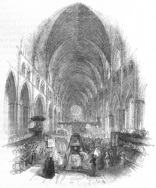 Associate Product SOCIETY. Funeral of Sidney 1845 old antique vintage print picture