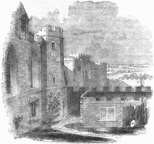 KENT. Penshurst Castle 1845 old antique vintage print picture