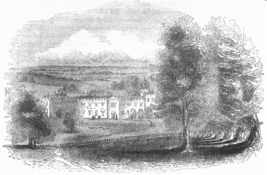 Associate Product KENT. Penshurst, general view 1845 old antique vintage print picture