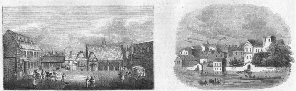 Associate Product LONDON. Arundel House; Essex 1647 1845 old antique vintage print picture