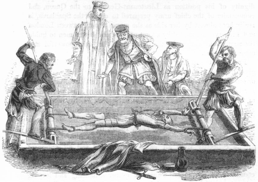 Associate Product ROGUES. Cuthbert Simpson on the rack 1845 old antique vintage print picture