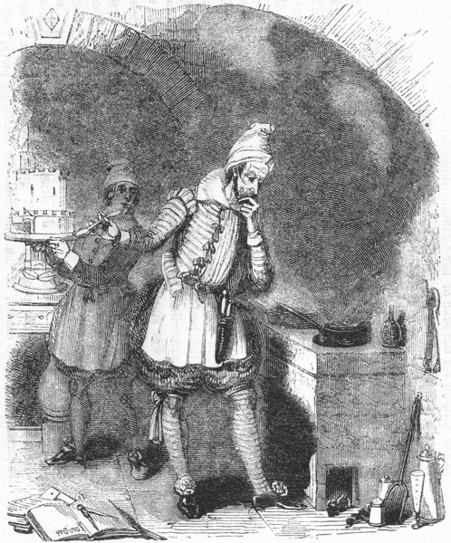 Associate Product HOSPITALITY. A new French cook 1845 old antique vintage print picture