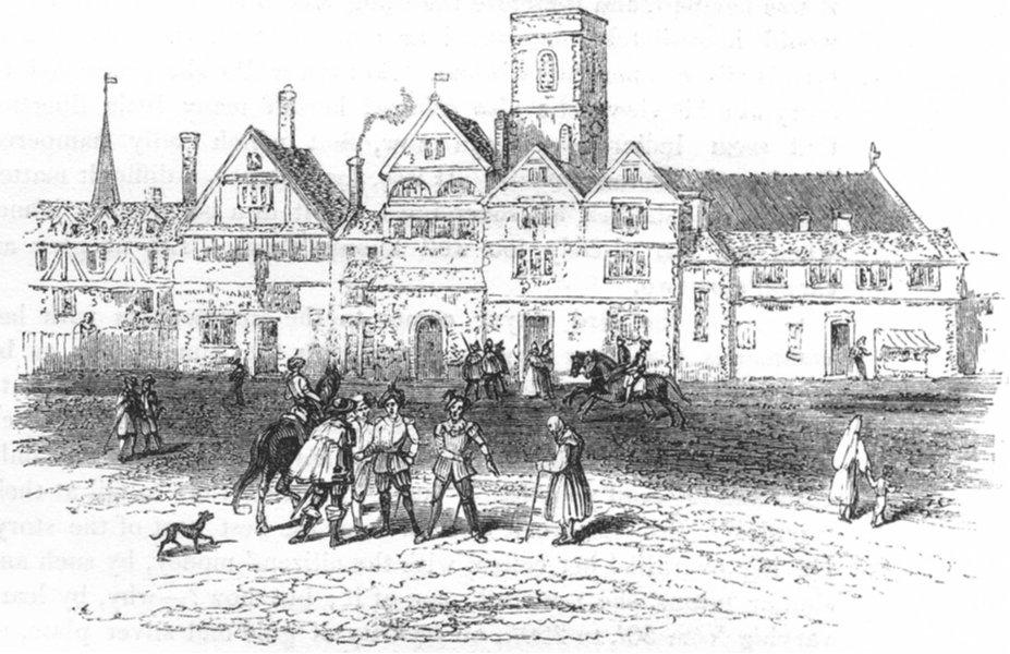 LONDON. Smithfield, 1554 1845 old antique vintage print picture