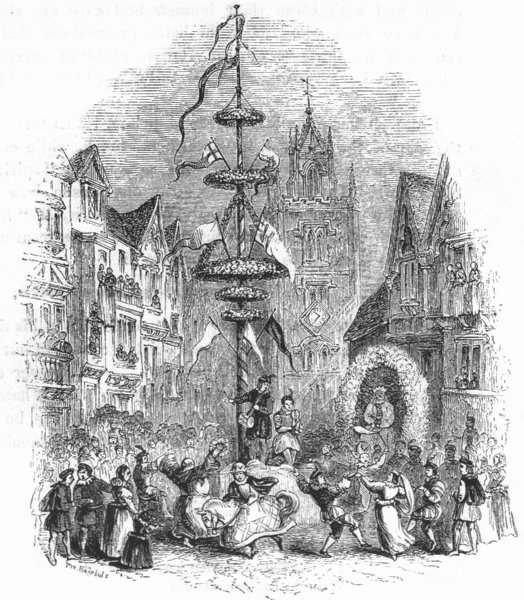 Associate Product SOCIETY. Pole before St Andrew Undershaft 1845 old antique print picture
