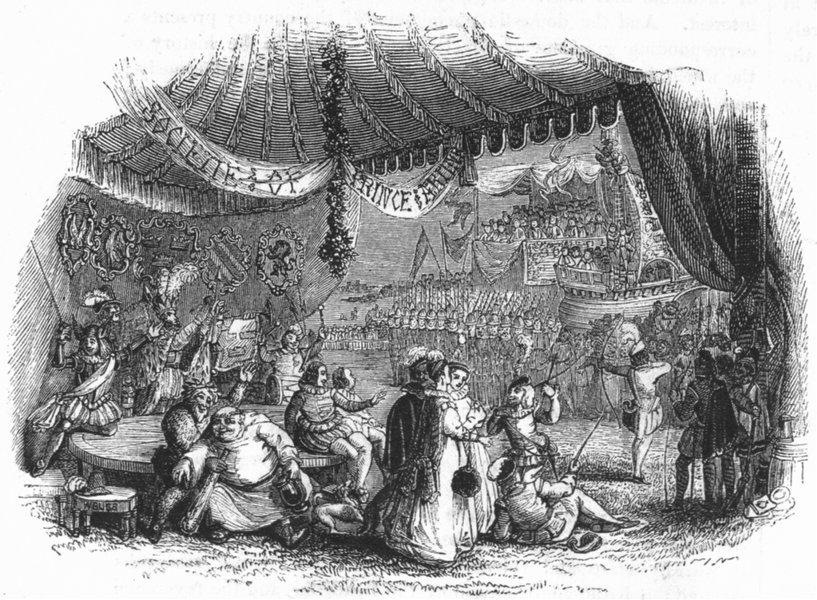 ROYALTY. Arthur's Show 1845 old antique vintage print picture