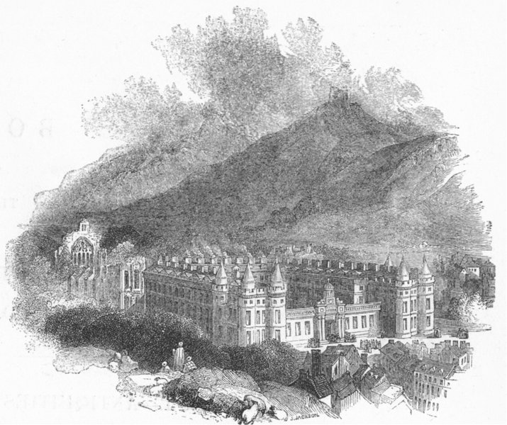 Associate Product SCOTLAND. Holyrood House 1845 old antique vintage print picture